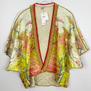 Anthropologie | Dora Quilted Kimono Floral Boho OS